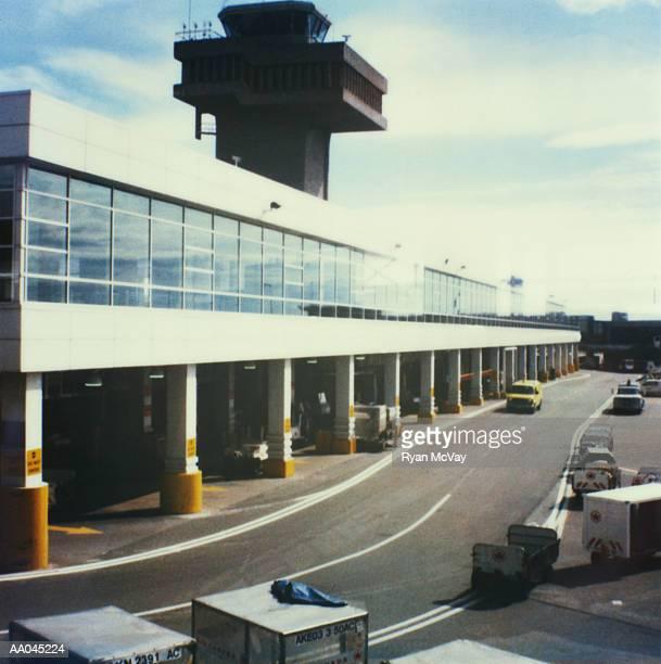 Airport exterior (cross-processed)