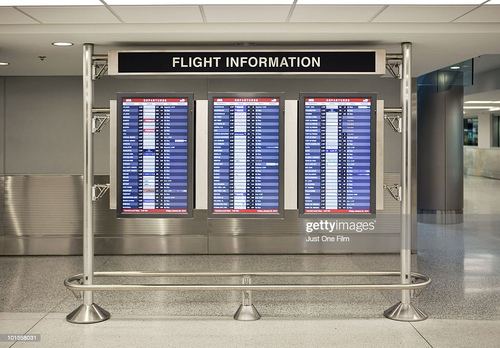 Airport Flight Information Screens