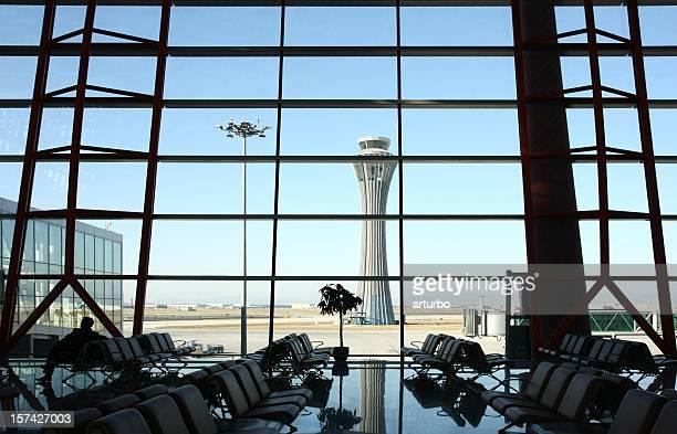 Flughafen hall Blick auf Shanghai