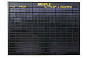 Empty airport arrivals information screen, you can fill in your own text