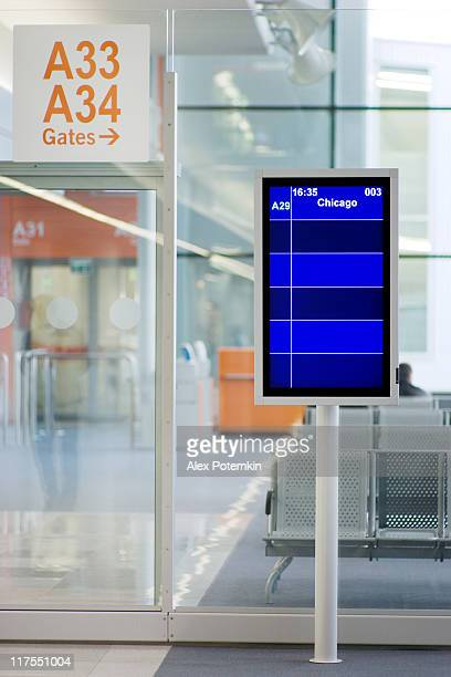 Airport lounge: information board