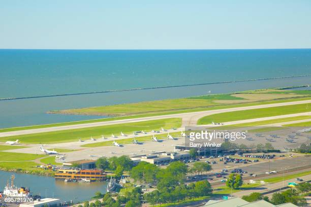 Airport on Lake Erie in Cleveland