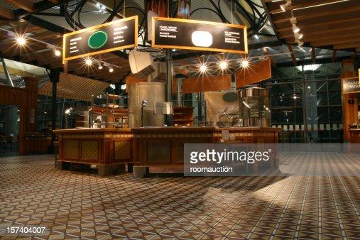 Airport restaurant self service