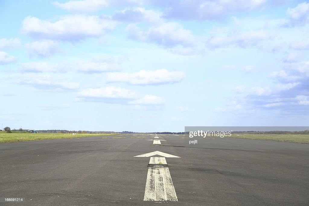 Airport runway : Stock Photo
