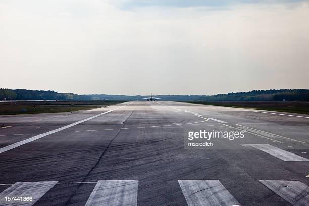Piste de l'aéroport de à partir de l'avion