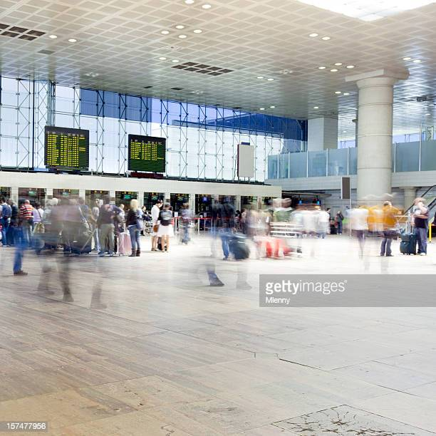 Airport Rush Travellers at the Check-In Counters