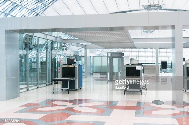 Airport Security Check Point, Luggage And Body Scanner