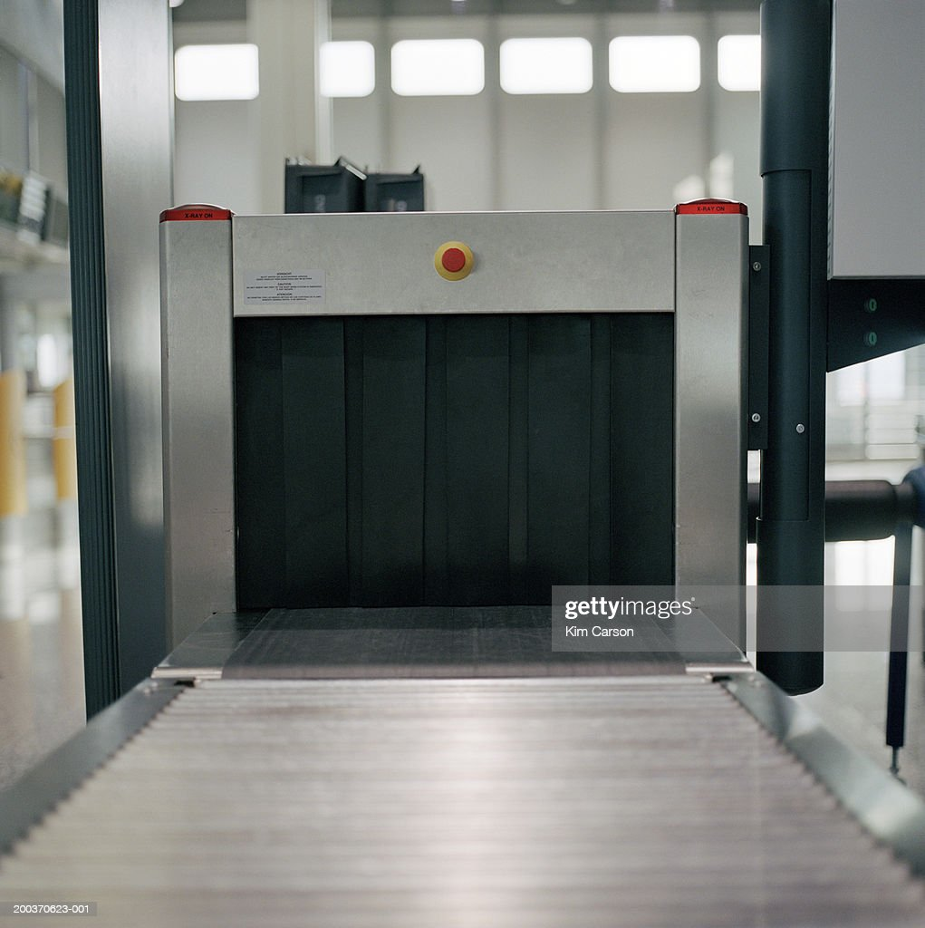 Airport security x-ray machine