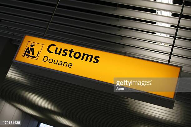 Airport sign - Customs