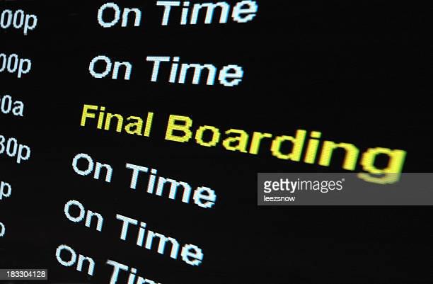 Flughafen zum Boarding Sign