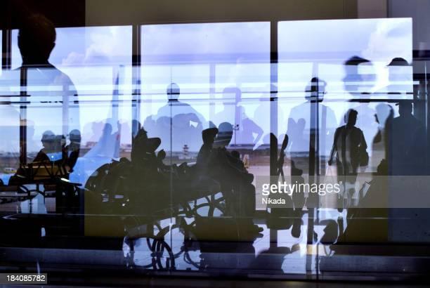 空港のシルエット