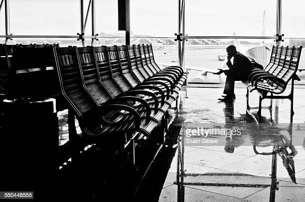 Airport telephone conversation
