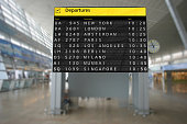 Airport terminal arrival departure timetable flight