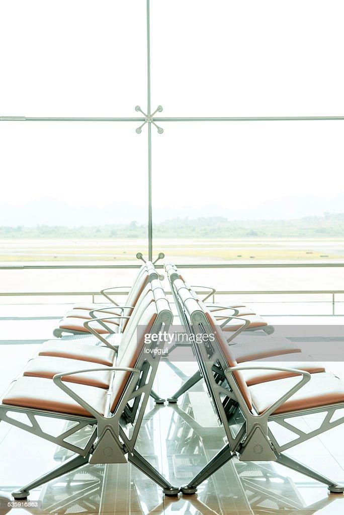 Airport waiting area : Stock Photo