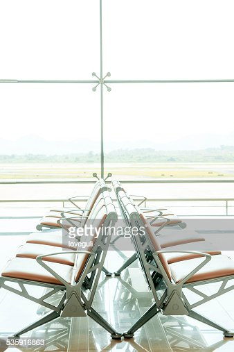 Airport waiting area : Stock Photo