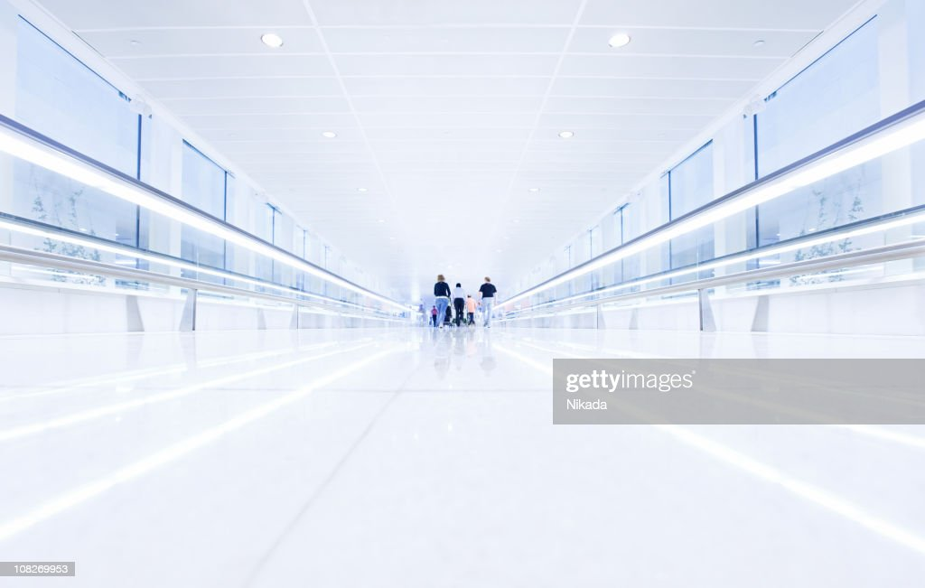 Airport Walkway : Stock Photo