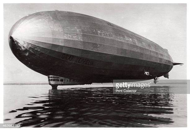 Airship LZ127 'Graf Zeppelin' landing on Lake Constance Germany 1933 The 'Graf Zeppelin' was the most successful airship ever built Between its first...