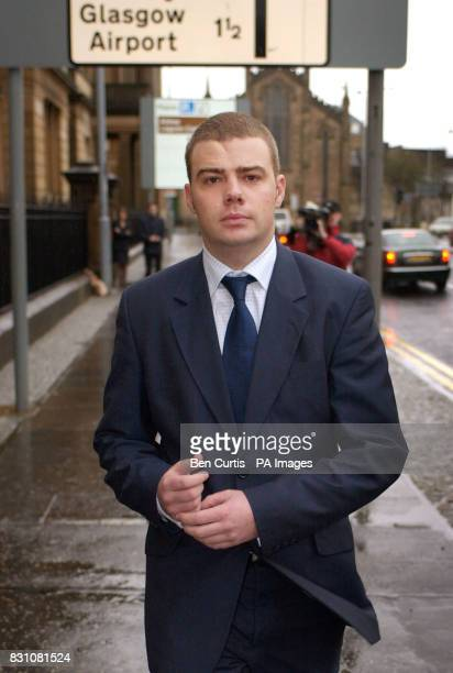 Airtours steward Derek Morrison who survived the Linwood air crash leaves after giving evidence at the Fatal Accident Inquiry concerning the incident...