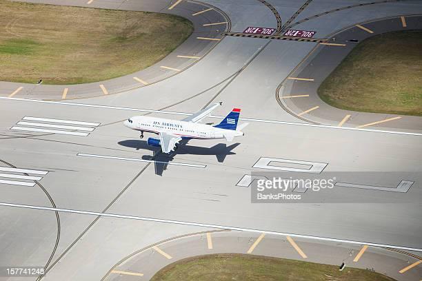 US Airways Airbus Jet Landing on Runway