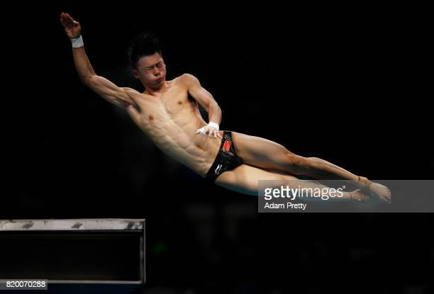 Aisen Chen of China competes during the en's Diving 10m Platform preliminary round on day eight of the Budapest 2017 FINA World Championships on July...
