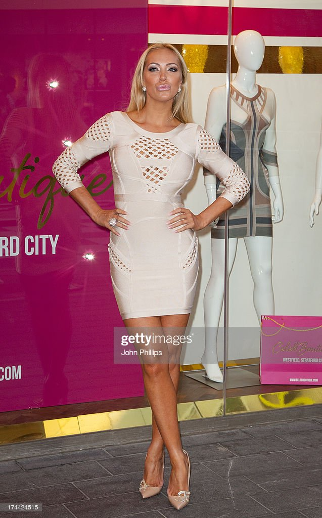Aiseyne Horgan-Wallace attends the store launch party at CelebBoutique, Westfield Stratford City on July 25, 2013 in London, England.