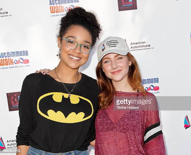Aisha Dee and Haley Ramm attend the Inaugural Los Angeles Autoimmune Walk hosted by Haley Ramm on November 8 2015 in Culver City California