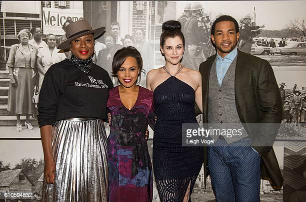 Aisha Hinds Amirah Vann Jessica de Gouw and Alano Miller the cast of 'The Underground' arrive at 'The Underground' Washington DC Screening National...