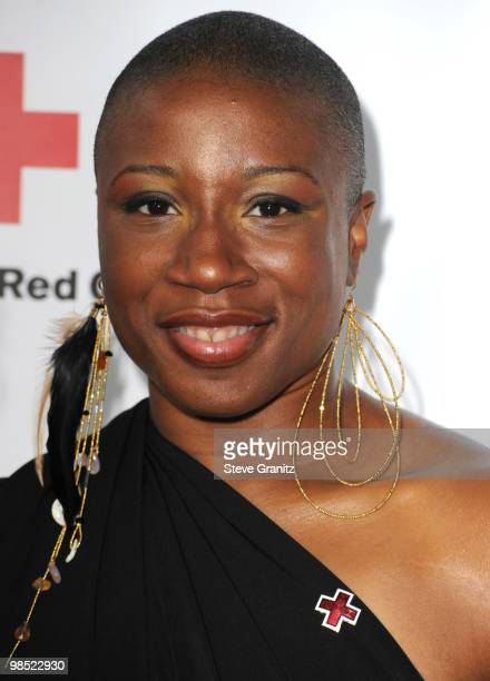 Aisha Hinds attends The American Red Cross Red Tie Affair Fundraiser Gala at Fairmont Miramar Hotel on April 17 2010 in Santa Monica California