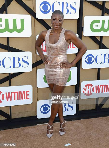 Aisha Hinds attends the CW CBS And Showtime 2013 Summer TCA Party on July 29 2013 in Los Angeles California