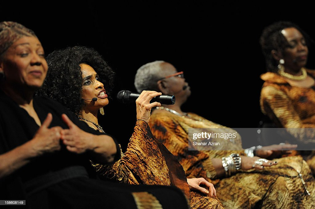 Aisha Kahlil performs during Sweet Honey In The Rock: Celebrating The Holydays at The Apollo Theater on December 20, 2012 in New York City.