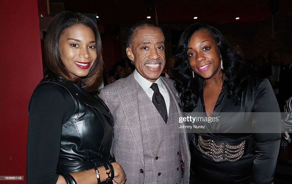 Aisha McShaw, <a gi-track='captionPersonalityLinkClicked' href=/galleries/search?phrase=Al+Sharpton&family=editorial&specificpeople=202250 ng-click='$event.stopPropagation()'>Al Sharpton</a> and Dominique Sharpton attend Reverend <a gi-track='captionPersonalityLinkClicked' href=/galleries/search?phrase=Al+Sharpton&family=editorial&specificpeople=202250 ng-click='$event.stopPropagation()'>Al Sharpton</a> 'Rejected Stone: <a gi-track='captionPersonalityLinkClicked' href=/galleries/search?phrase=Al+Sharpton&family=editorial&specificpeople=202250 ng-click='$event.stopPropagation()'>Al Sharpton</a> And The Path To American Leadership' Book Reception at Stage 48 on October 8, 2013 in New York City.