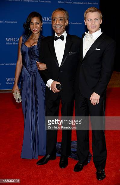 Aisha McShaw Al Sharpton and Ronan Farrow attend the 100th Annual White House Correspondents' Association Dinner at the Washington Hilton on May 3...