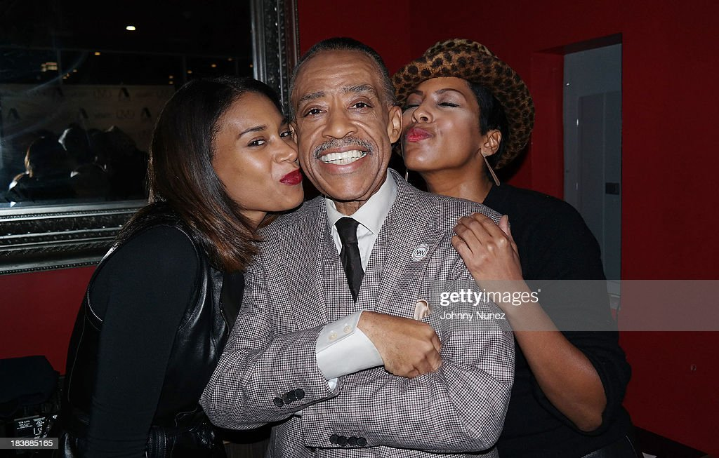 Aisha McShaw, <a gi-track='captionPersonalityLinkClicked' href=/galleries/search?phrase=Al+Sharpton&family=editorial&specificpeople=202250 ng-click='$event.stopPropagation()'>Al Sharpton</a> and Tamron Hall attend Reverend <a gi-track='captionPersonalityLinkClicked' href=/galleries/search?phrase=Al+Sharpton&family=editorial&specificpeople=202250 ng-click='$event.stopPropagation()'>Al Sharpton</a> 'Rejected Stone: <a gi-track='captionPersonalityLinkClicked' href=/galleries/search?phrase=Al+Sharpton&family=editorial&specificpeople=202250 ng-click='$event.stopPropagation()'>Al Sharpton</a> And The Path To American Leadership' Book Reception at Stage 48 on October 8, 2013 in New York City.
