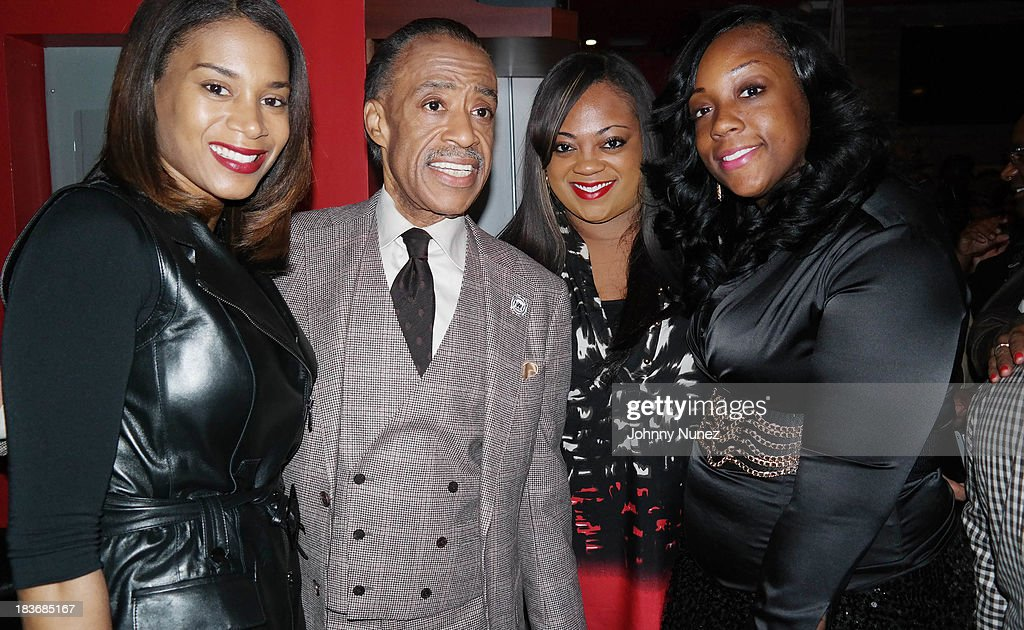 Aisha McShaw, <a gi-track='captionPersonalityLinkClicked' href=/galleries/search?phrase=Al+Sharpton&family=editorial&specificpeople=202250 ng-click='$event.stopPropagation()'>Al Sharpton</a>, Ashley Sharpton and Dominique Sharpton attend Reverend <a gi-track='captionPersonalityLinkClicked' href=/galleries/search?phrase=Al+Sharpton&family=editorial&specificpeople=202250 ng-click='$event.stopPropagation()'>Al Sharpton</a> 'Rejected Stone: <a gi-track='captionPersonalityLinkClicked' href=/galleries/search?phrase=Al+Sharpton&family=editorial&specificpeople=202250 ng-click='$event.stopPropagation()'>Al Sharpton</a> And The Path To American Leadership' Book Reception at Stage 48 on October 8, 2013 in New York City.