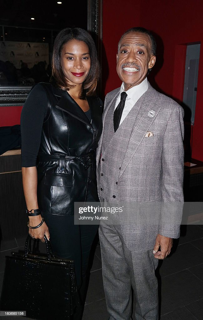 Aisha McShaw and Al Sharpton attend Reverend Al Sharpton 'Rejected Stone: Al Sharpton And The Path To American Leadership' Book Reception at Stage 48 on October 8, 2013 in New York City.