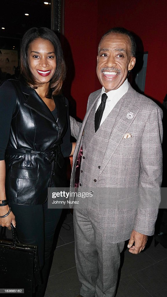 Aisha McShaw and <a gi-track='captionPersonalityLinkClicked' href=/galleries/search?phrase=Al+Sharpton&family=editorial&specificpeople=202250 ng-click='$event.stopPropagation()'>Al Sharpton</a> attend Reverend <a gi-track='captionPersonalityLinkClicked' href=/galleries/search?phrase=Al+Sharpton&family=editorial&specificpeople=202250 ng-click='$event.stopPropagation()'>Al Sharpton</a> 'Rejected Stone: <a gi-track='captionPersonalityLinkClicked' href=/galleries/search?phrase=Al+Sharpton&family=editorial&specificpeople=202250 ng-click='$event.stopPropagation()'>Al Sharpton</a> And The Path To American Leadership' Book Reception at Stage 48 on October 8, 2013 in New York City.
