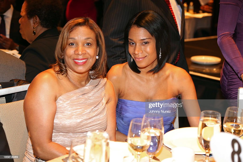 Aisha McShaw (r) and guest attend the 2013 Keepers Of The Dream Awards at the Sheraton New York Hotel & Towers on April 4, 2013, in New York City.