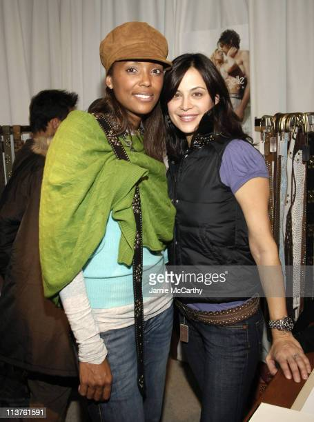 Aisha Tyler and Catherine Bell at Linea Pelle at the Marquee Hospitality Suite and Lounge