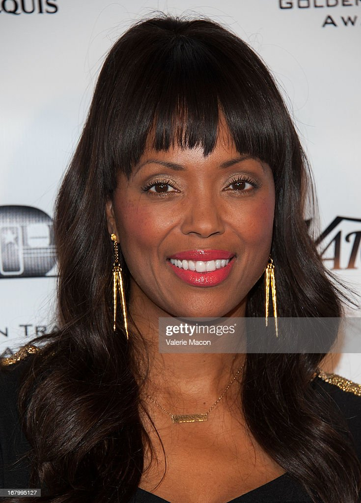 Aisha Tyler arrives at the 14th Annual Golden Trailer Award at Saban Theatre on May 3, 2013 in Beverly Hills, California.