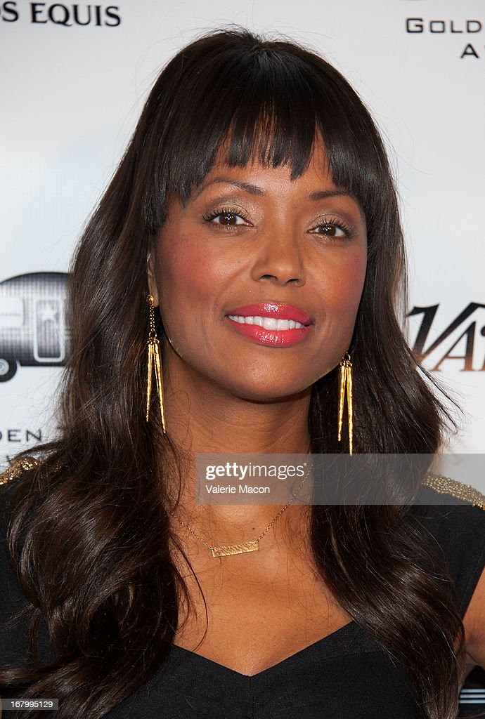 <a gi-track='captionPersonalityLinkClicked' href=/galleries/search?phrase=Aisha+Tyler&family=editorial&specificpeople=202262 ng-click='$event.stopPropagation()'>Aisha Tyler</a> arrives at the 14th Annual Golden Trailer Award at Saban Theatre on May 3, 2013 in Beverly Hills, California.