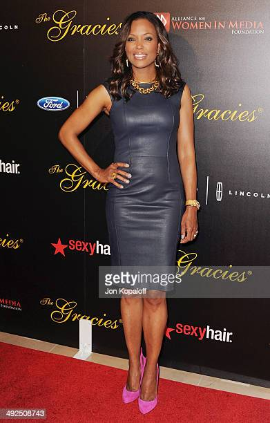 Aisha Tyler arrives at the 39th Annual Gracie Awards at The Beverly Hilton Hotel on May 20 2014 in Beverly Hills California
