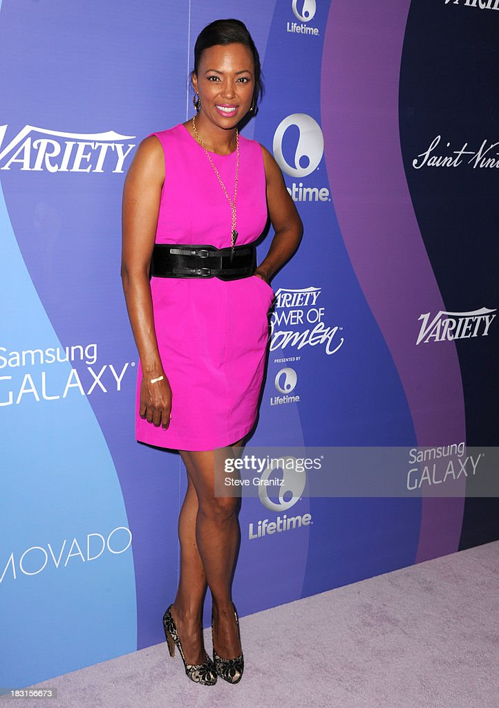 Aisha Tyler arrives at the Variety's 5th Annual Power Of Women Event at the Beverly Wilshire Four Seasons Hotel on October 4, 2013 in Beverly Hills, California.