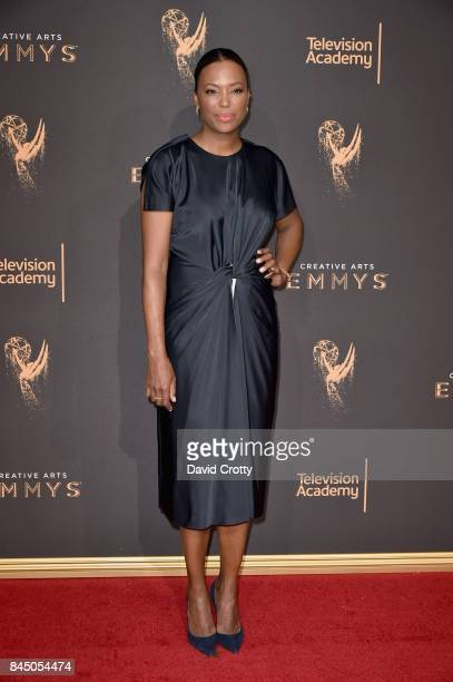 Aisha Tyler at the 2017 Creative Arts Emmy Awards Day 1 at Microsoft Theater on September 9 2017 in Los Angeles California