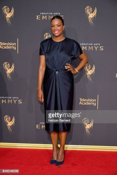 Aisha Tyler attends day 1 of the 2017 Creative Arts Emmy Awards at Microsoft Theater on September 9 2017 in Los Angeles California