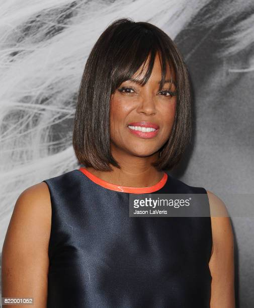 Aisha Tyler attends the premiere of 'Atomic Blonde' at The Theatre at Ace Hotel on July 24 2017 in Los Angeles California