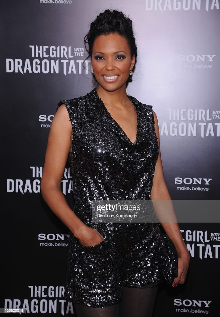 Aisha Tyler attends the 'The Girl With the Dragon Tattoo' New York premiere at Ziegfeld Theater on December 14, 2011 in New York City.