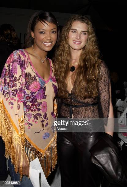Aisha Tyler Brooke Shields during Los Angeles Fashion Week Lotta 2002 Fall Collection to Benefit 'Dress for Success' at Moomba in Los Angeles...