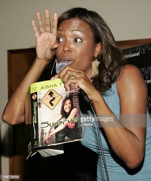 Aisha Tyler during Svedka Vodka Hosts Aisha Tyler's Book Reading of 'Swerve Reckless Observations of a Postmodern Girl' at Monroe's in West Hollywood...