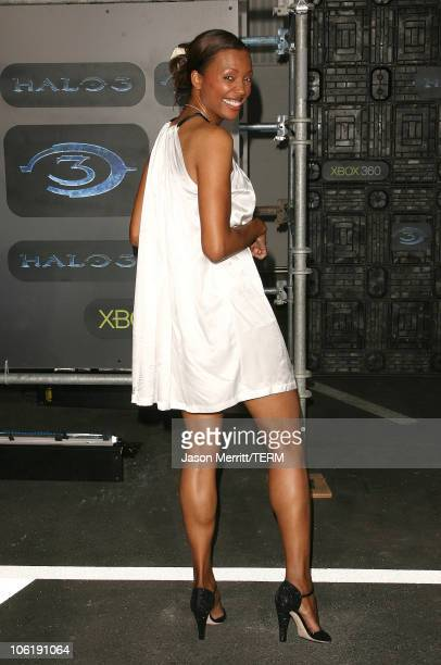 Aisha Tyler during Xbox 360 Halo 3 Sneak Preview Arrivals at Quixote Studios in Hollywood California United States