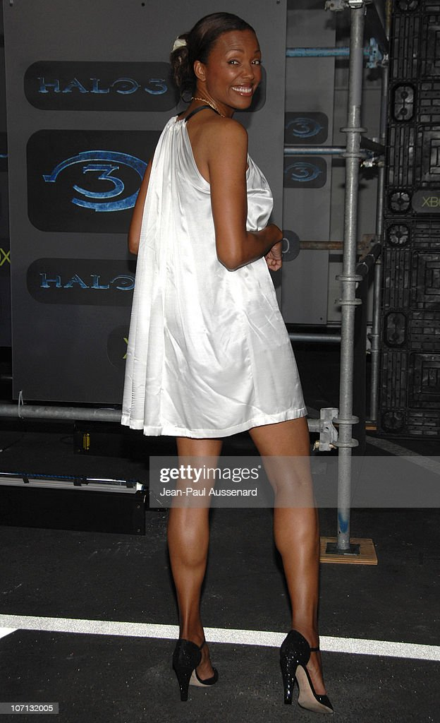 Aisha Tyler during Xbox 360 Halo 3 Sneak Preview - Arrivals at Quixote Studios in West Hollywood, California, United States.